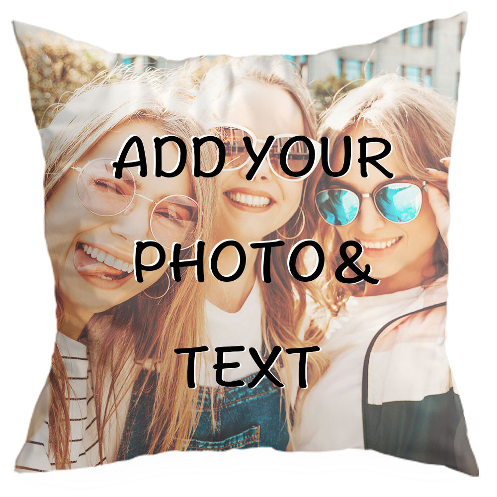 DROP SHIP Custom Photo Pillow Cases | Personalized Decorative 16x16 Throw Pillow Cover w / Any Picture Box | Throw Pillowcases