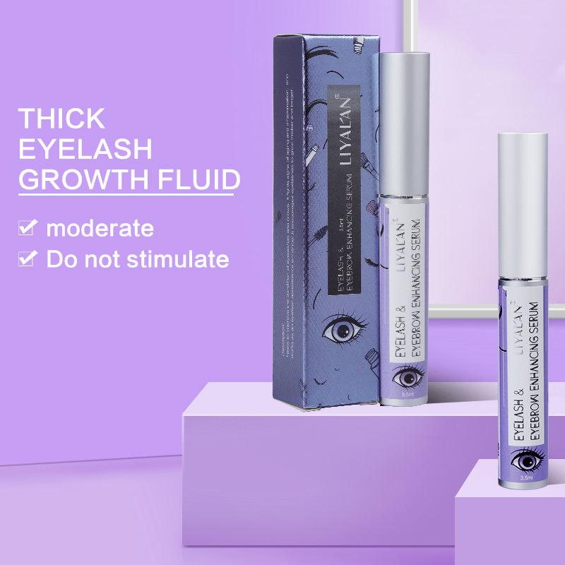 FDA Korea Wholesale Private Label Natural Approved 100% Organic Eyebrows Enhancer Longer Eyelash Growth Serum