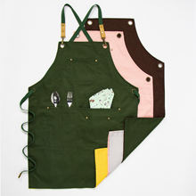 Flower gardening design work apron and Double sided color apron