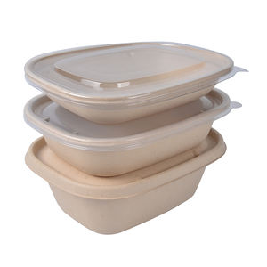 Biodegradable Compostable Sugarcane Bagasse Food Containers box