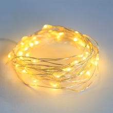 2M 5M 10M Fairy Lights Battery Operated LED Waterproof Mini Firefly String Lights with Flexible Silver Wire for Wedding Centerpi