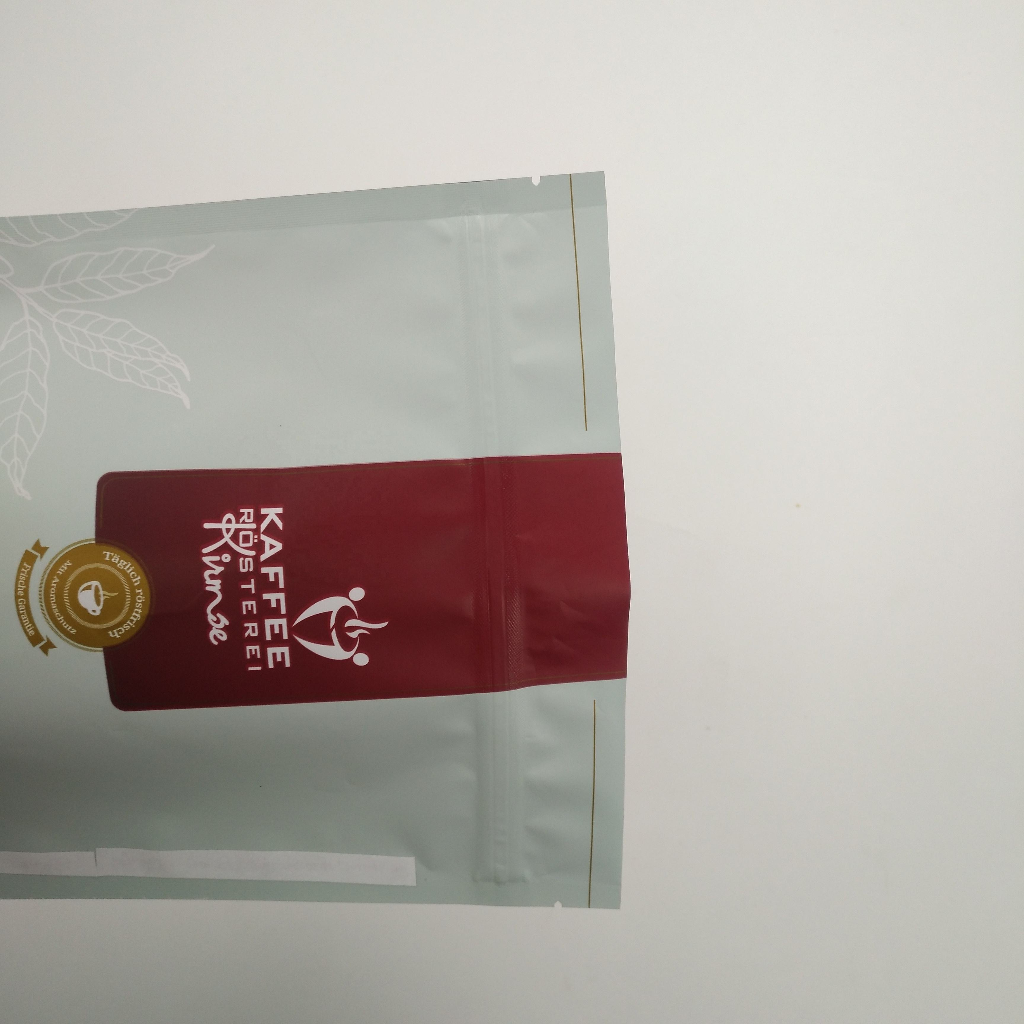 Bag Packaging Manufacturers Resealable Matte Finish Stand Up Aluminum Foil 250g 500g 1kg Coffee Bean Pouch With Valve
