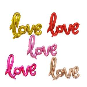 Wholesale conjoined LOVE aluminium wedding decoration party alphabet letter foil balloon for Valentine's Day