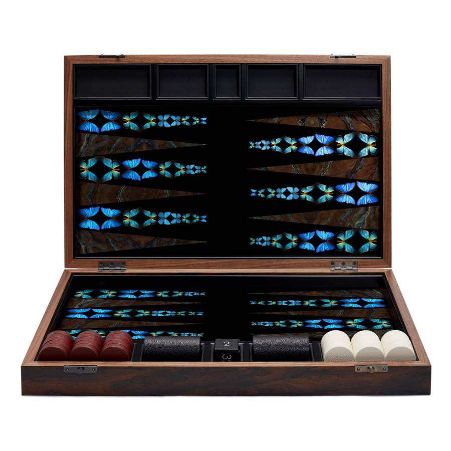 Custom Luxe Backgammon Set Case, Magnetische Hout Backgammon <span class=keywords><strong>Checkers</strong></span> Set