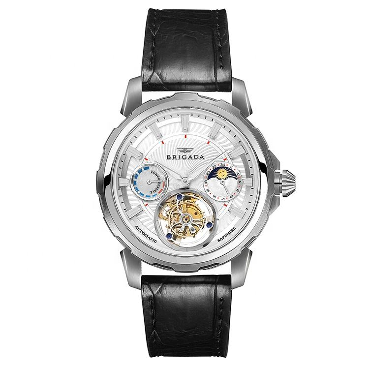 Automatic mechanical flying tourbillon watch for man