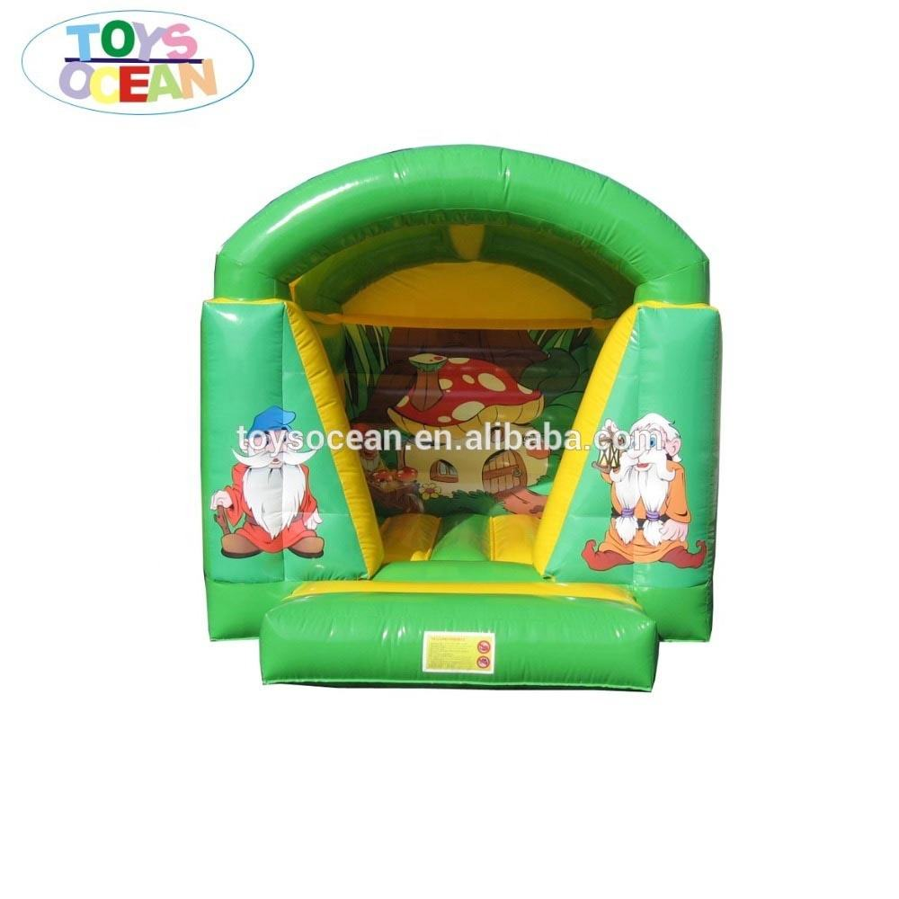 0.55mm PVC Tarpaulin Mini inflatable moonwalk bouncy castle with jumping house on sale