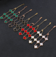 DanYuan green black white red steel clover bracelet
