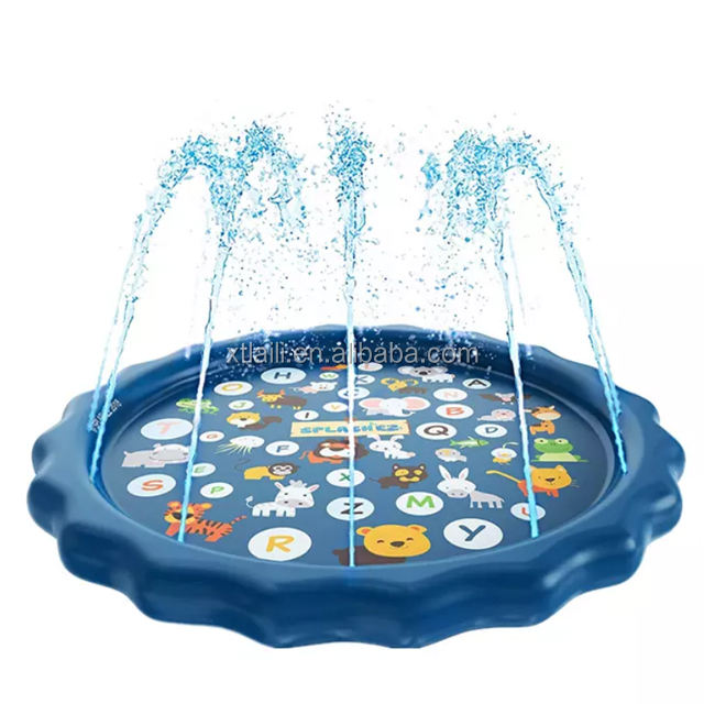 Toy Sprinkler for Kids / 68 inch Splash Pad Play Mat Water Toys