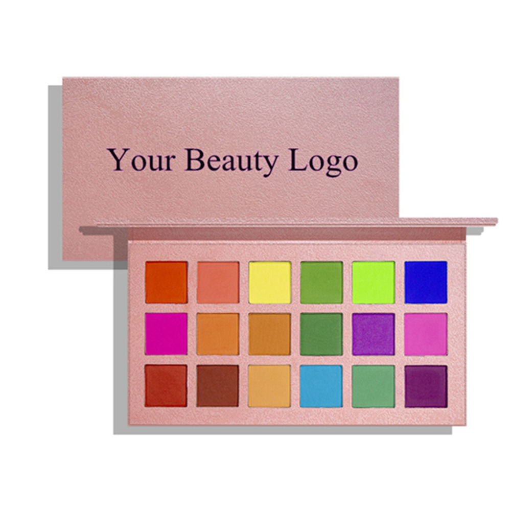 2019 new private label eye shadow palette high pigment summer colors palette 18 colors cardboard eyeshadow palette