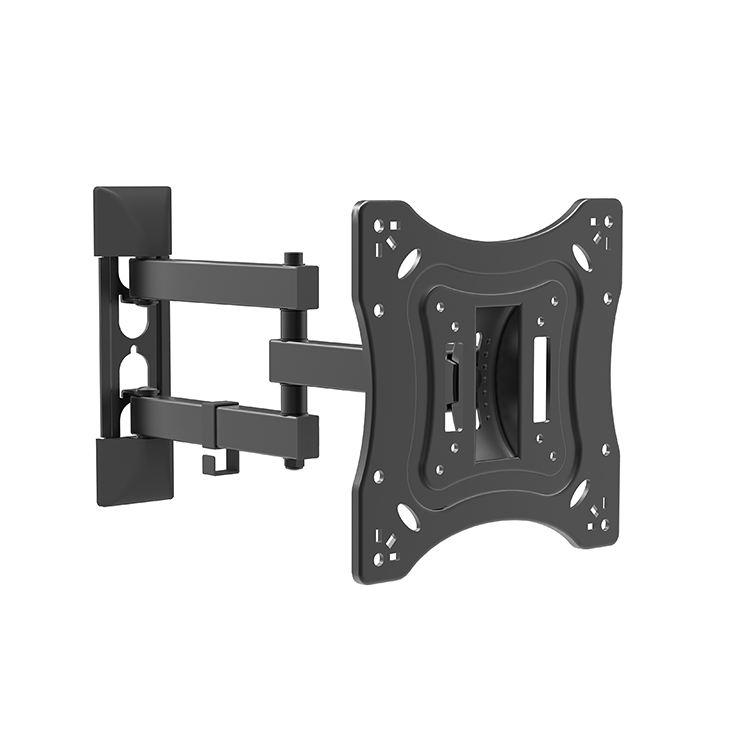 Removable tv wall mount black metal support 30kgs/66lbs Load Capacity and 200X200mm vesa,OEM tv mount full motion