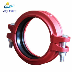 Fire fighting ductile iron pipe grooved fitting vds rigid coupling