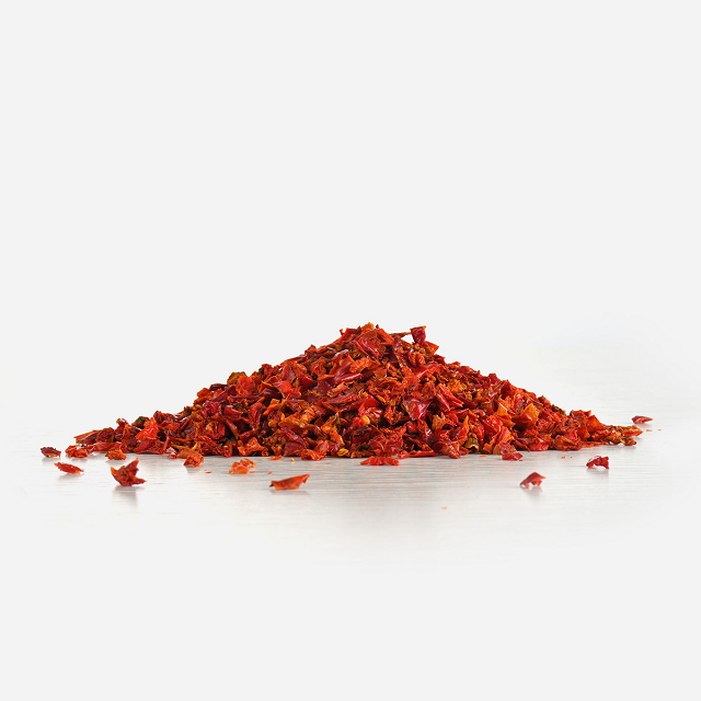Air dried vegetables red bell pepper flake
