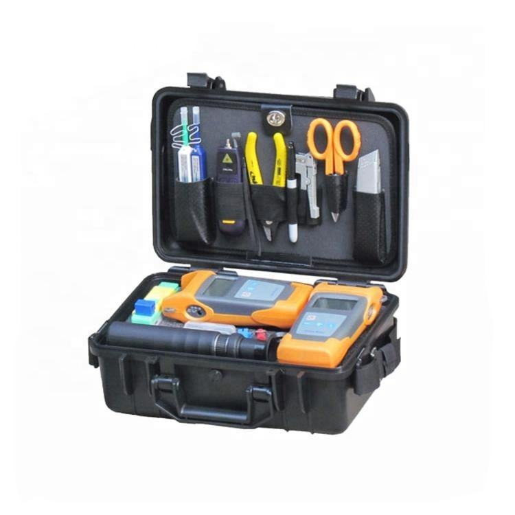 FCST210404 Fiber Optic Test Toolkits & Fiber Tool Repair Set With VFL Power Meter Light Source Cleaver