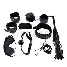 JoyPark Popular Sex SM BDSM Slave Set Kits Bondage Sex Toys 7 Pcs for Men Couples and Women