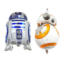 Star R2D2 BB8 War Balloons Robot Shape Helium Foil Movie Globos For Kids Toy Outer Space Birthday Party Decoration