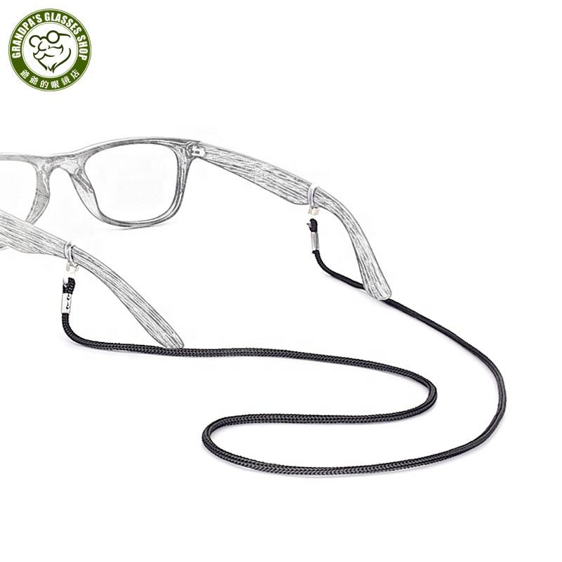 Wholesale promotional Eyewear accessories black Nylon bulk reading glasses chain Anti-slip sunglasses neck strap