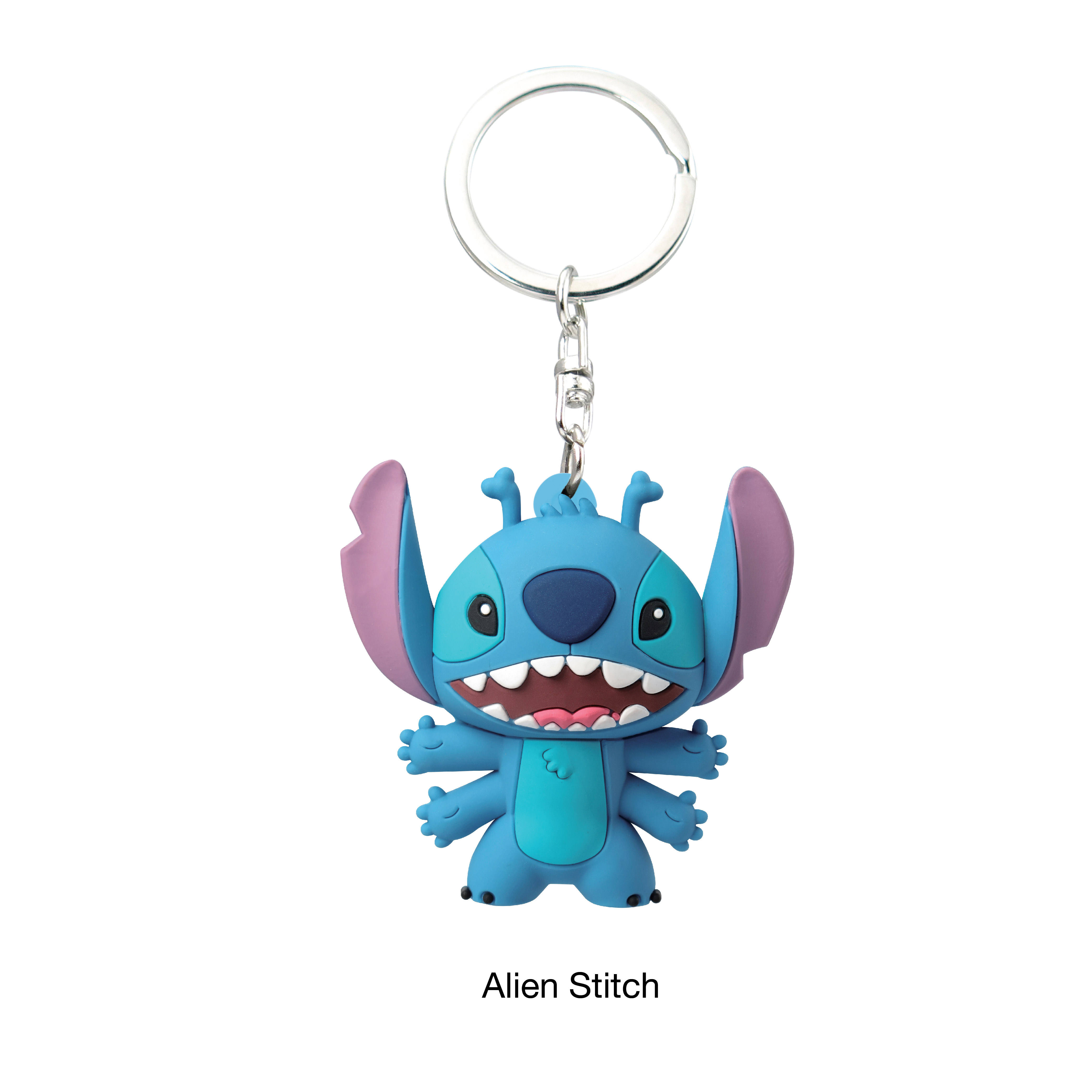 TOP QUALITY COOL PLASTIC 3D FOAM FIGURES PRESENT DISNEY STITCH SERIES 2 EVENT GIFT BAG CLIP KEY CHAIN FOR LADIES
