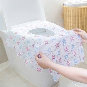 Wholesale pentagram cartoon portable toilet mat set bathroom flushable toilet seat cover soft disposable paper cover