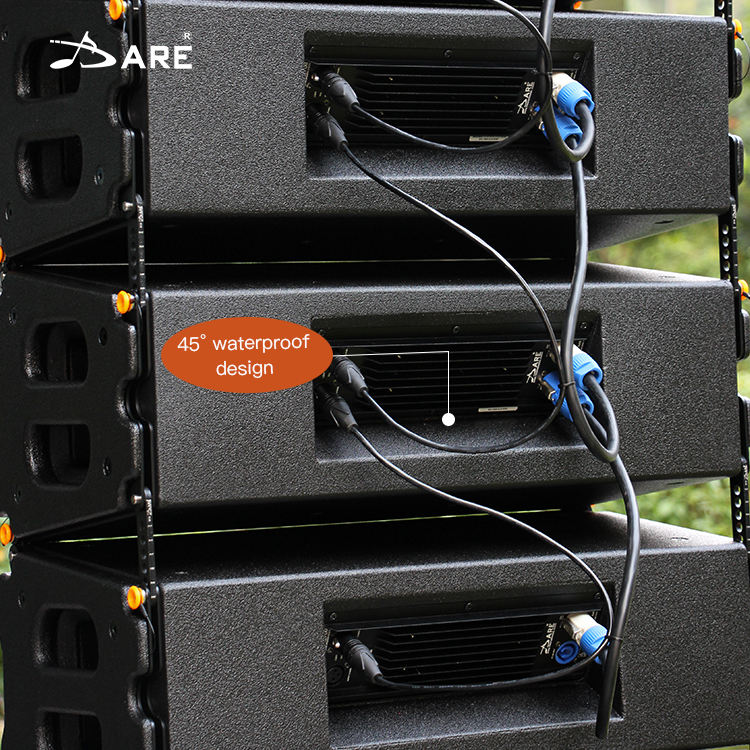 "DARE double 12"" waterproof neodymium HF pro audio powered line array system outdoor stage active speaker systems"