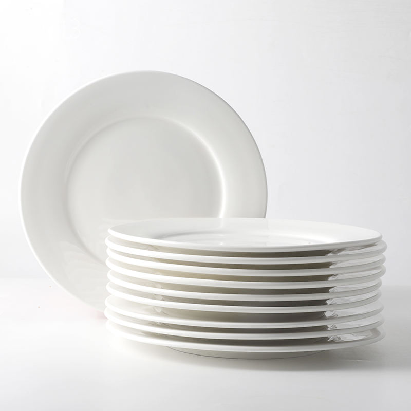 Wedding Event 8 10 12 Inch Dises and Plates Cheap Price White Ceramic Plate for Restaurant