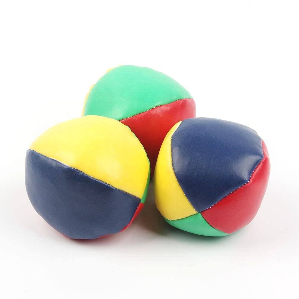 Wholesale Juggling ball toy balls classic 4 panel juggling balls hacky sack