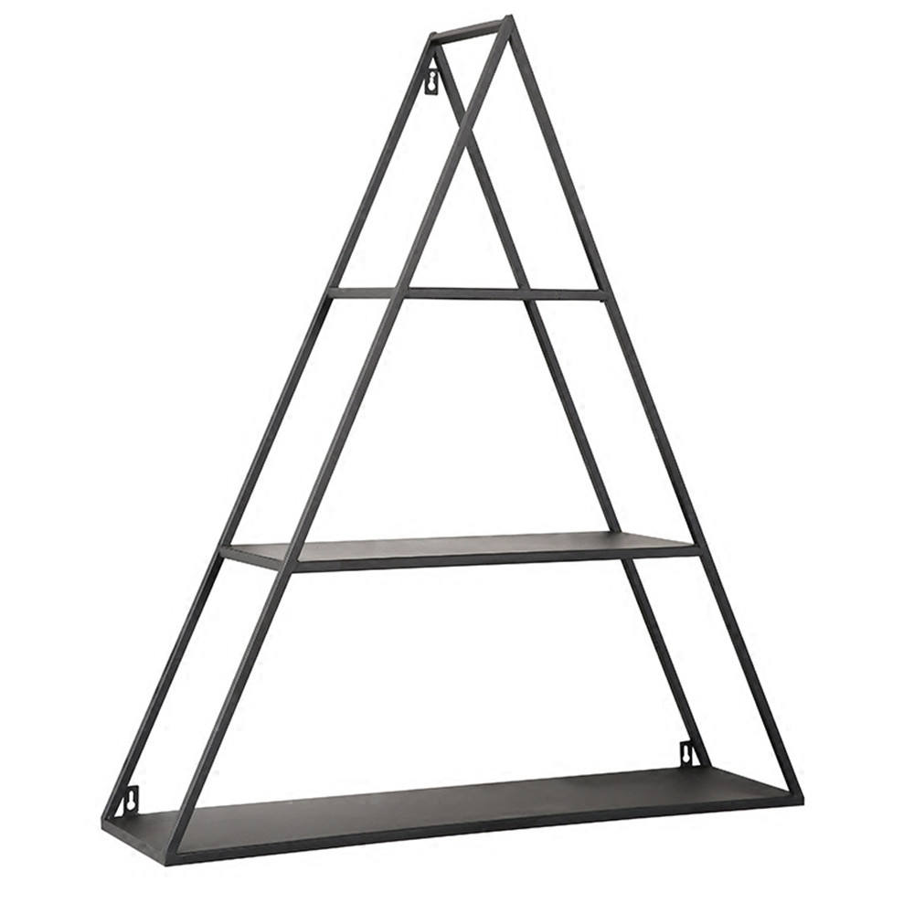 Factory Price Wall Shelf Metal Triangle Floating Shelves Decorative Wall Shelf Display Rack for Home Storage Rack