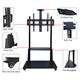 V701 Height Adjustable Mobile TV Stand Cart With DVD Tray Fits for 32-70inch