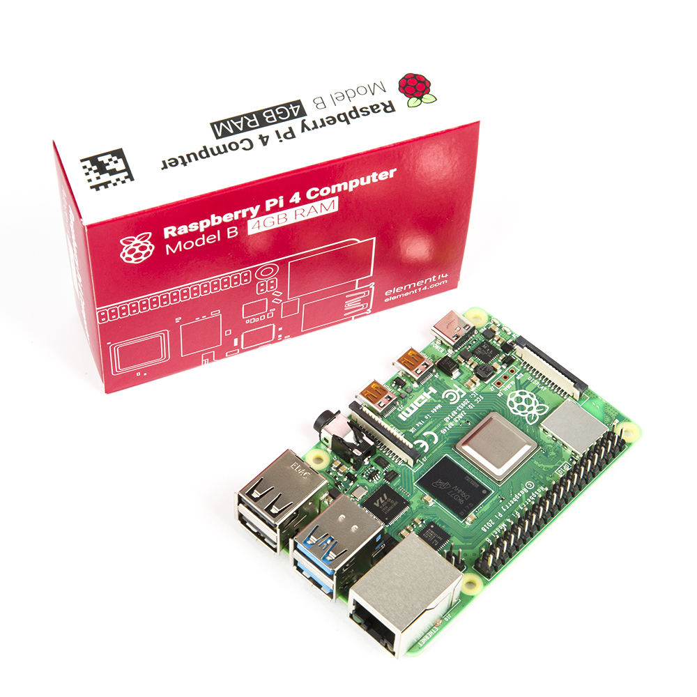 Raspberry PI 4 Mô Hình B 4GB RAM Quad core 64-bit 1.5GHz Bluetooth 5.0