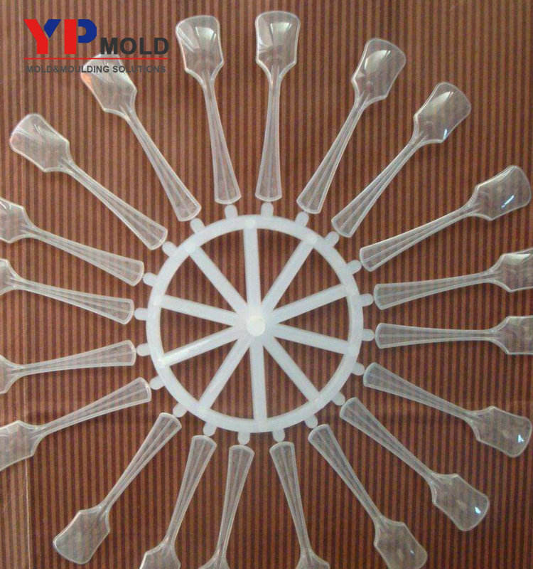 2019 new disposable plastic spoon mould cutlery fork knife injection mold