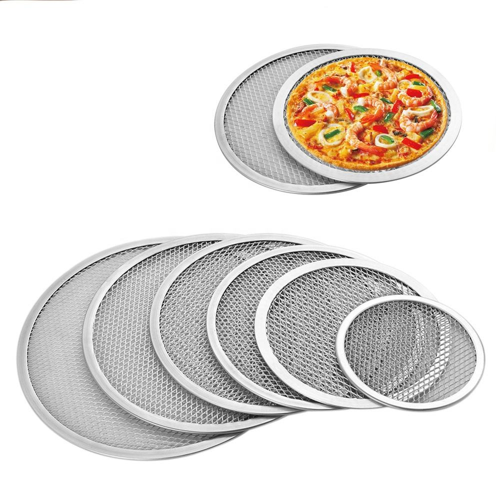 Multi Size Commercial Grade Foodservice Seamless Aluminum Pizza Screen Heavy duty