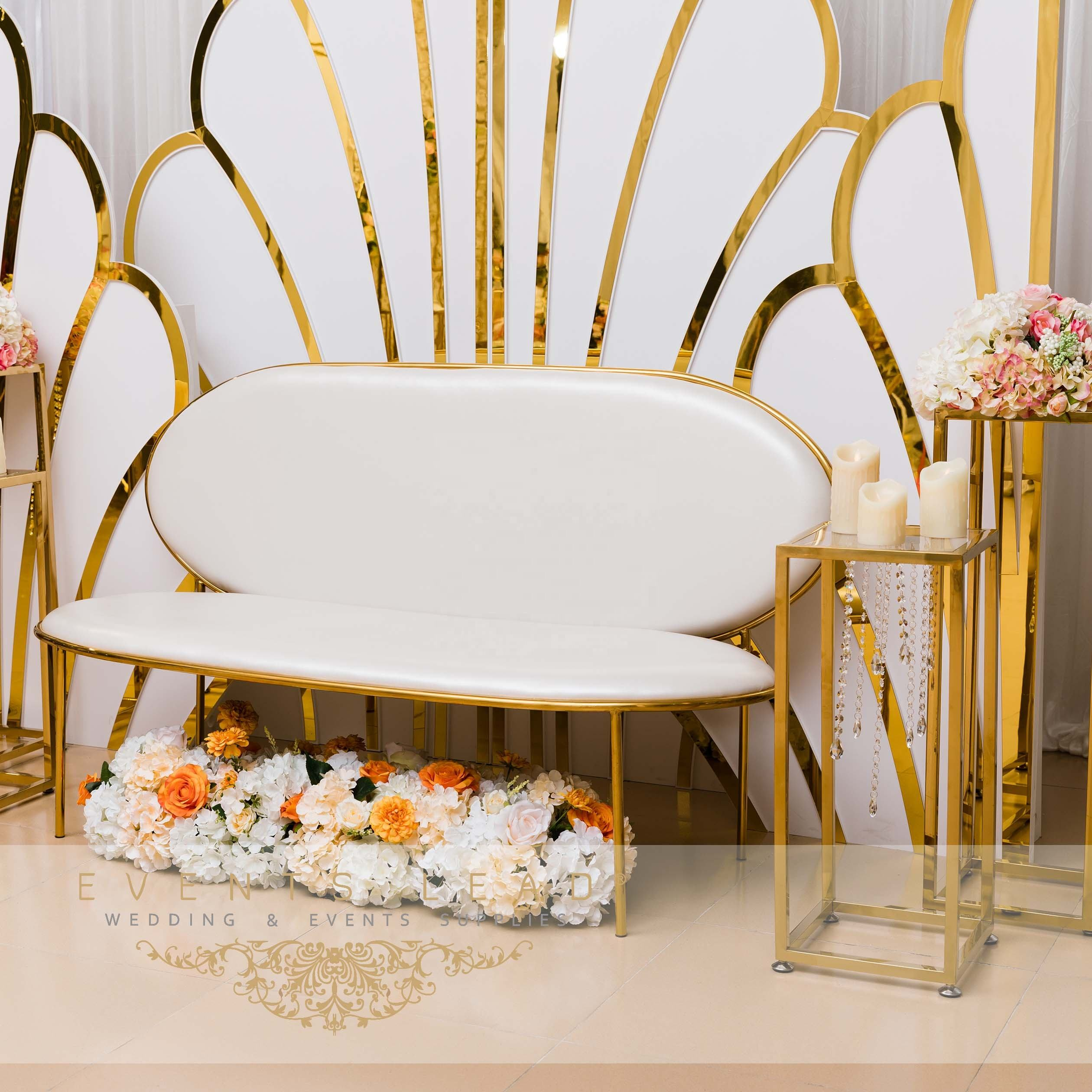 Selling Superb Process Event Furniture Exquisite Classic CHAISE Sofa From Wedding Events Decoration Supplies