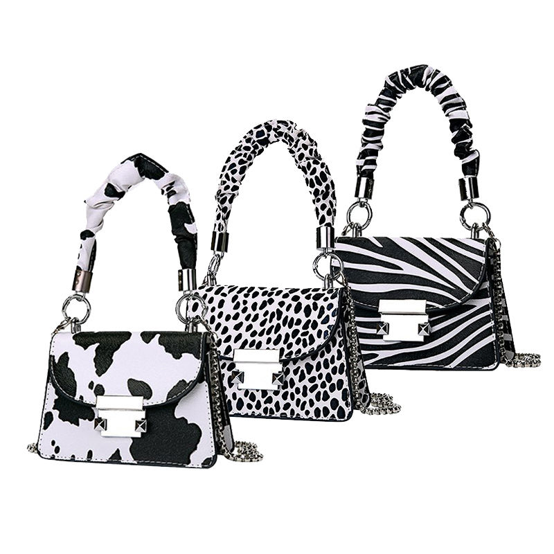 2020 Fashion designer shoulder crossbody bags women handbags leather tote ladies mini cow print purse