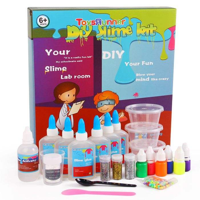 Clay Fluffy Clear DIY Activator Slime Set Making Kit Sale Kids Supplies Color Toys Putty Glitter Glue Kid DIY Slime