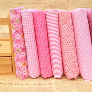 Pink 100% Cotton Fabric fat quarters for Sewing Tilda Doll Cloth DIY Quilting Patchwork Tissue Textile