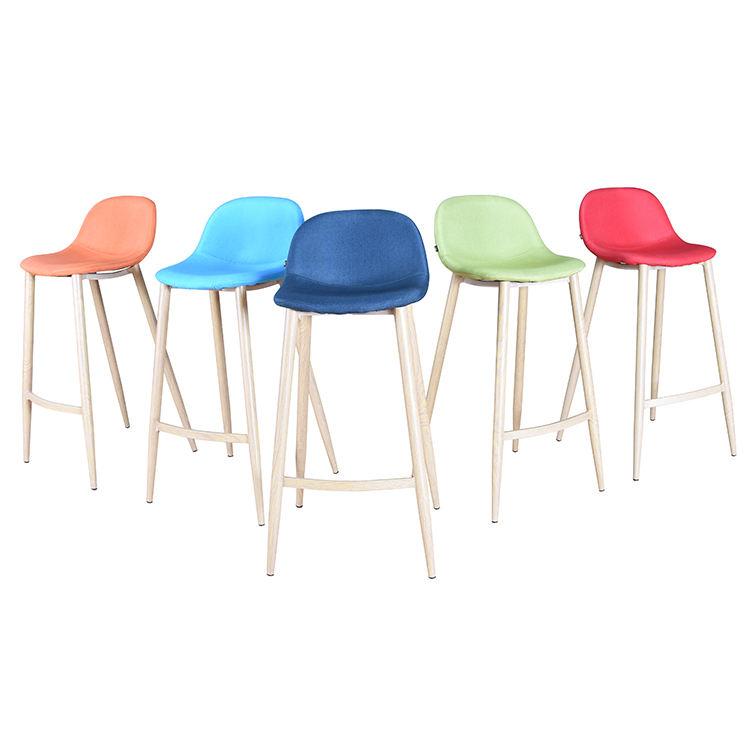 Free Sample High Quality Cheap Price Hot Selling Bar Furniture Bar Chair Modern European Upholstered Counter Bar Stool