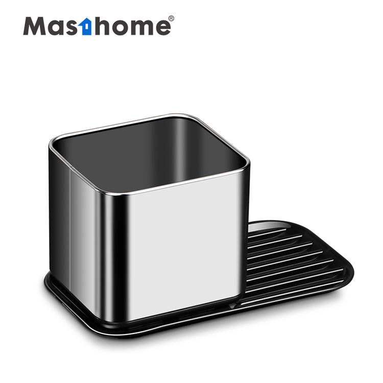 Masthome kitchen metal sink caddy organizer dish and soap dispenser over the sink caddy display rack caddy with sponge holder