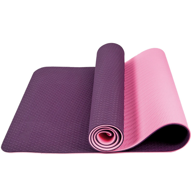 two color tpe yoga mat for hot sale