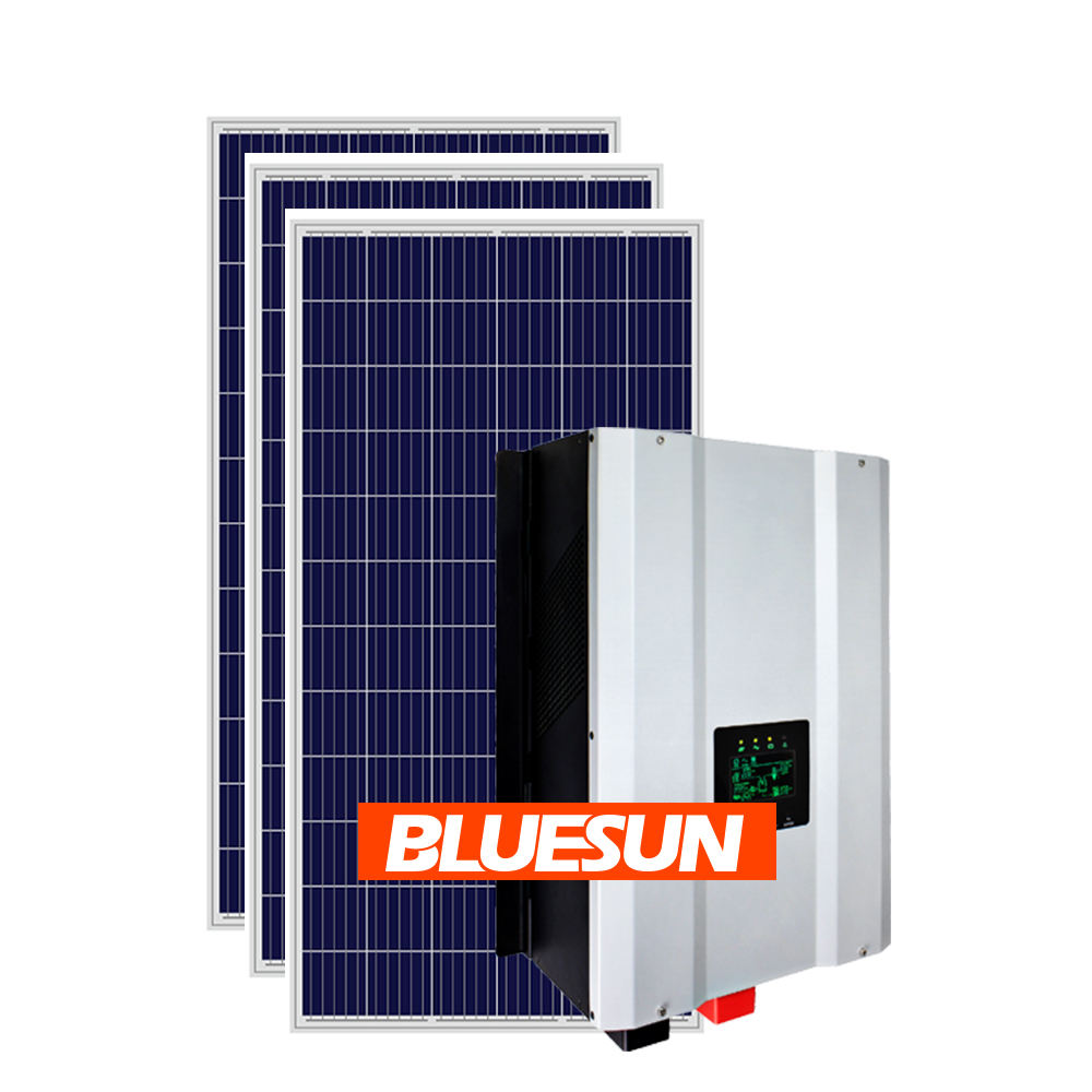 Bluesun 5kw solar energy systems home green solar energy generator solar panel kit 5000w off grid solar systems