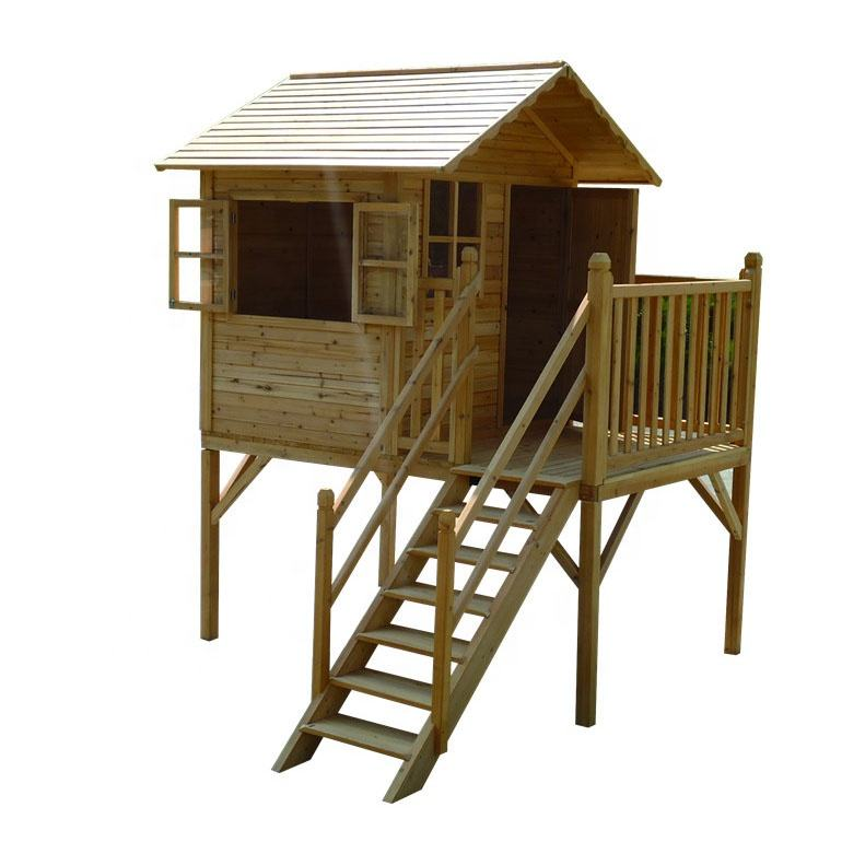 ECO cubby natural wholesale sandbeach backyard playground cheap play houses outdoor wooden kids playhouse