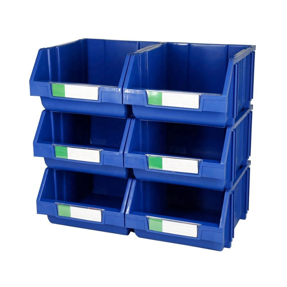 Large size plastic tool parts stackable storage bin for garage storage
