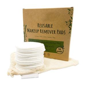 Best Quality Round Bamboo Cotton Reusable Makeup Remover Pad Washable Facial Cleaning Pad