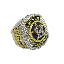 High Quality Gold Silver Polished Fashion Alloy 2007 MLB Fans Elegent Houston Astros Baseball Championship rings