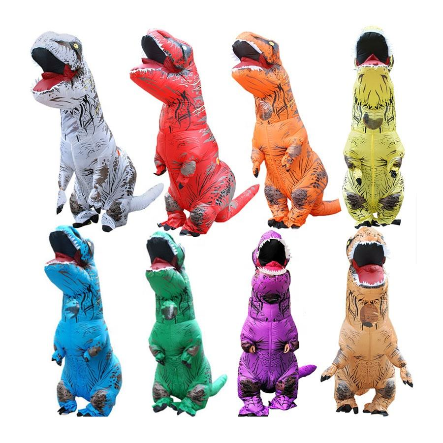 Adult Kids Fancy Dress Suit Cosplay Game Blow up Costume Dinosaur Inflatable Costume
