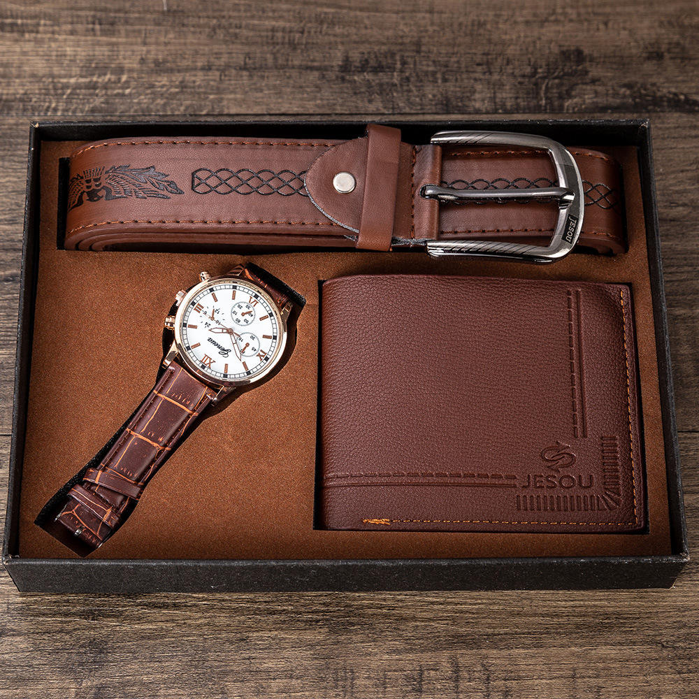 Men's Gift Set Exquisite Packaged Watch + Wallet +Set Foreign Trade Hot-money Creative Combination Set