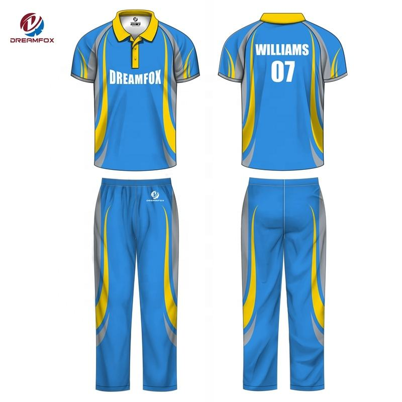 New custom design imprimir o logotipo cricket jerseys novo modelo melhor sublimação digital de críquete jersey