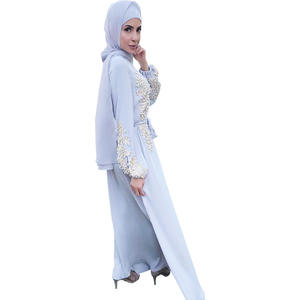 Muslin Abaya Eid Scarf Women Hijab Muslim Modest Women Islamic Dresses With Full Sleeves Pakaian Wanita Long Sleeve Maxi Dress