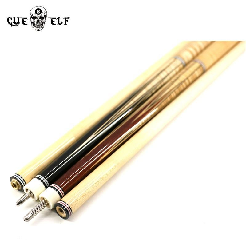 Cueelf curly laminated ebony 520g 535g carom cue billar