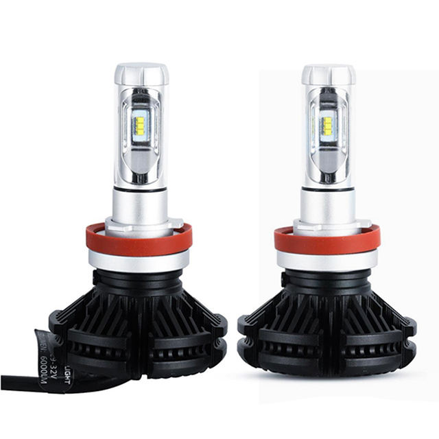 Auto Lighting System Led Lamps X3 Led Headlight H1 H3 H4 H7 H8 H9 H11 H13 H15 9005 9006 Bulbs 50w 6000Lm 12V 3000K 6500K 8000K