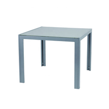 OUTDOOR GARDEN FURNITURE 90X90CM SQUARE METAL DINING TABLE