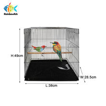 foshan producer directly sale size 38*28*49cm parrot canary bird corner cages with folding  function jaulas para ave